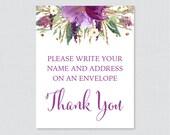 Purple Floral Address an ...