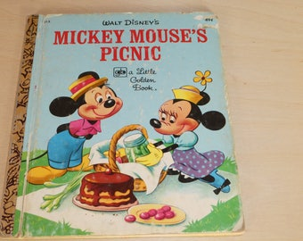 Walt Disney's Mickey Mouse's Picnic - a Little Golden Book