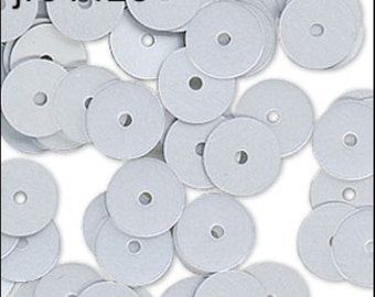 Matte Silver Flat Sequins 6mm - JR01425