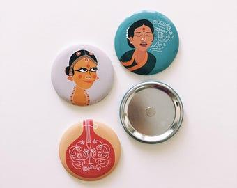 Chennai City Magnet Set - Asian gift, Culture, Chennai City