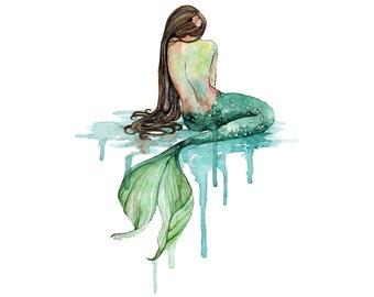 Mermaid Temporary Tattoo T046