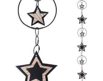 Wall hanging wire - coloured Garland - Black - Star