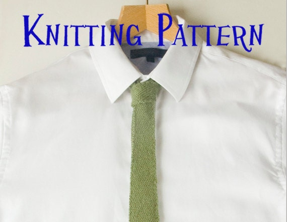 PDF Knitting Pattern - Mens Tie, Bias Knit Tie Knitting Pattern ...