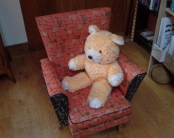 Child's chair from the 1950s with original period covering