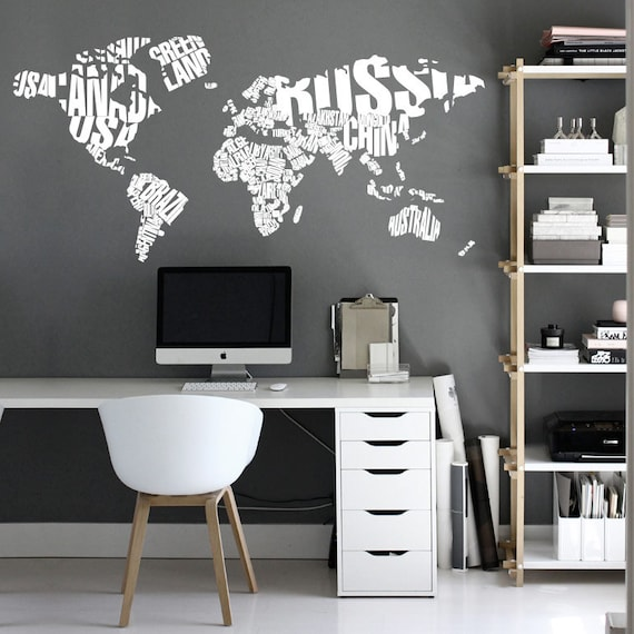 Typography world map country names world map decal large te gusta este artculo gumiabroncs Images