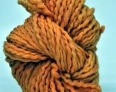 Handdyed Yarn, Orange, Pumpkin, Light Orange, Bulky yarn, Thick n thin, Pretty, Wall hanging, Knitting, Weaving, Scarf Yarn, Yospun, Fiber