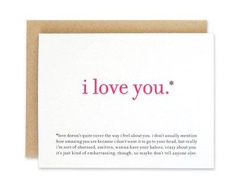 Printable / Funny Love Card / I Love You Valentine Card