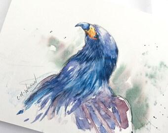 Eagle Portrait - Original Watercolor Painting