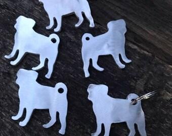 Pug key chain, Pug Keychain, Pug, Pug Lover, Pugs, Pug dog, Key chain, Dog Key chain, Dog keychain, Chinese Pug key chain, Chinese pug