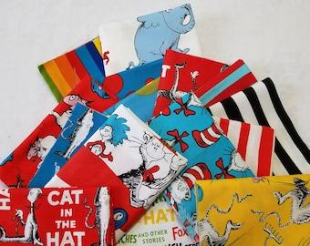 Scrap Pack of Dr. Seuss Print Fabric - 10 oz