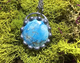 Blue Moon Turquoise Necklace Pendant