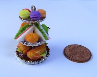 Miniature Cakes, Fairy Cakes, Miniature Cake Stand, Fairy Garden Miniatures, Dolls House Cakes, Dollhouse Miniatures