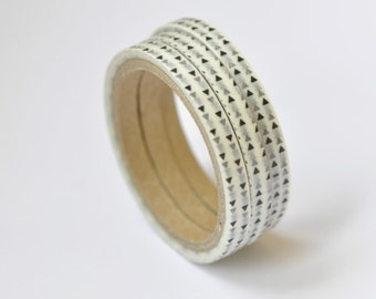 "0.19"" ( 5mm) Skinny Triangles Washi Tape  5 yards (0.19 inche wide X 5 yards long) No. 12129"
