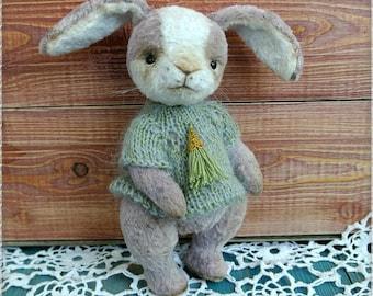Teddy bunny Clara, toy, plush rabbit, rabbit from viscose, bunny teddy