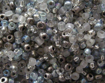Icy Blue 10/0 Seed Bead Mix 15 grams