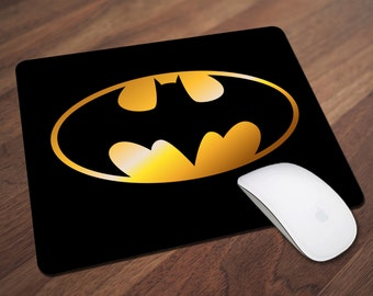 Batman Mouse Pad, Superhero Mouse Pad, Caped Crusader, Gotham City, Office Gift, Co-Worker Gift, Boss Gift, Student Gift