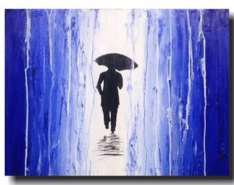 Art  Large Abstract painting  -  original 18 X 24 -  JMJartstudio- Left Behind -Wall art-  Gift for him