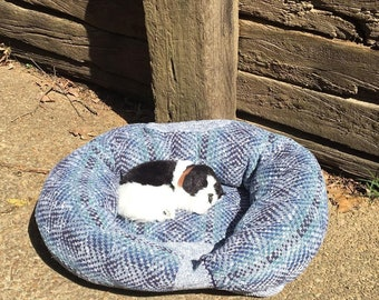 The Hug Nest, Pet Bed, Recycled Sweater, Pet Hug, Repurposed Sweater, Upcycled, Pillow Bed, Small Pet Bed, Medium Pet Bed, Dog Bed, Cat Bed