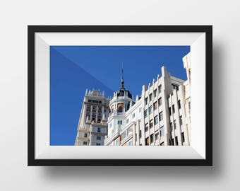 Streets of Madrid | Madrid Spain | Spanish Architecture | Fine Art Photo | Downtown Madrid | Image File (Digital Download)