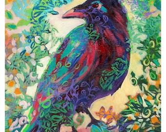 Raven King Abstract Art - Fine Art Print by Jenlo