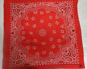 Free shipping Red Vintage  Cotton Bandana   #095