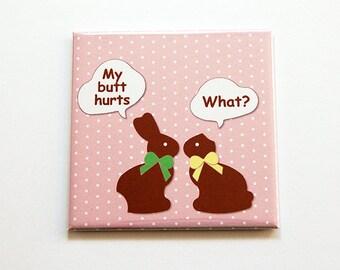 Funny Easter Magnet, Bunny Magnet, Kitchen Magnet, Fridge magnet, Magnet, easter bunny, easter gift, Easter Magnet, Humor (5473)