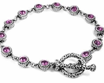 February Birthstone, Crystal Amethyst Jewelry, Crystal Birthstone Bracelet, Layering Bracelet, Amethyst Bracelet, Birthstone for February