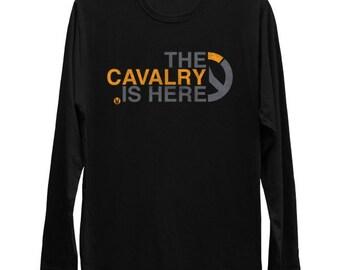 The CavalryS Here  Overwatch Long Sleeve Tee