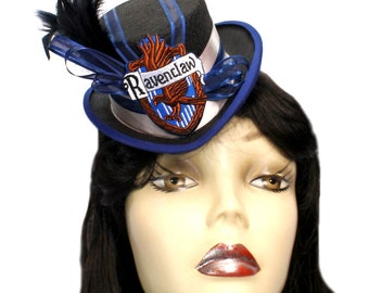 Mini Top Hat Ravenclaw Harry Potter Inspired Victorian Steampunk Fascinator Cocktail
