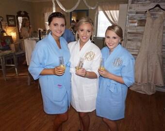 Bridesmaid Robes - Monogrammed Bridesmaid Robes - Bridal Party Robes - Custom Bridesmaid Robes - Bridesmaid Gifts
