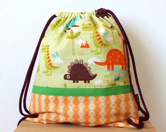 Mochila dinosaurios para niños, mochila con cordón, mochila guarderia, mochila verano niños
