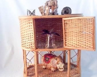 Rattan Shelf / Bohemian Decor / Rattan / Boho Decor / Vintage Shelf
