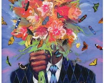 Surreal Art Print - Butterfly Art - Date with destiny art print