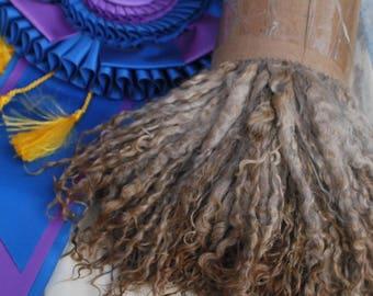 8 oz Silver Mohair Locks / Kid Mohair Locks / Soft Long Lustrous Bundle / Dye Wash Comb Spin Tailspin Art Yarn / Reborn / Reroot / Doll Hair