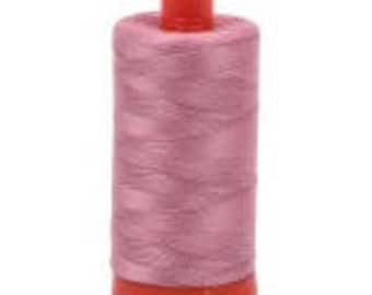 Victorian Rose Aurifil Mako Cotton Thread Color 2445, 50 wt, 1300m, 1 spool purple fuchsia pink neon purple Mauve Rose