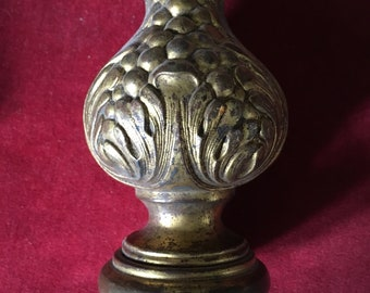 Superbe antique french dimensional repousse brass ornament III
