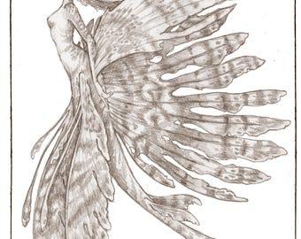 Lionfish Mermaid, Greeting Card by Renae Taylor