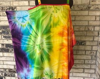 Plus Size Lightweight Tie Dye Rayon Sun Top