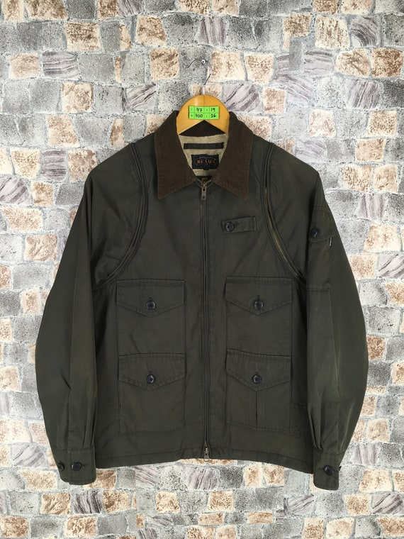 M Comme Jacket Olive 65 Miyake Size BEAMS Pocket Japanese Multi Jacket Small S Japan Des Cargo Bomber Coat Field Jacket Issey Warmer UUw6Iq