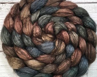 Handpainted Yak/Silk Roving - 4 oz. OUTLAW - Spinning Fiber