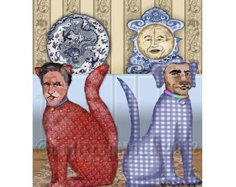 The Debate political Print