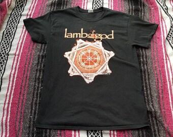 Lamb Of God Band Shirt Size Medium Used Rock Metal Punk Tee