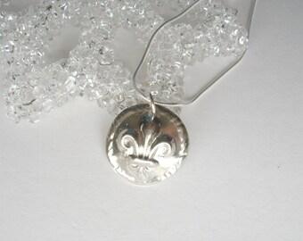 Fleur de lis Fine Silver Pendant