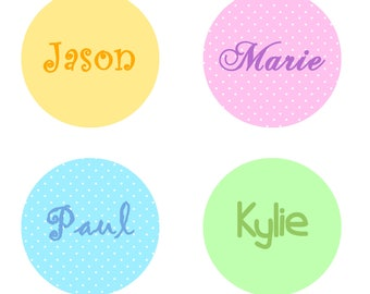 Custom name pins/badges/buttons 44mm