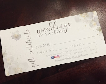 Bridal Shower Gift Personalized, Engagement Gift Personalized, Wedding Personalized Gift, Bridal Shower Gift, Gift Certificate, Gift Card