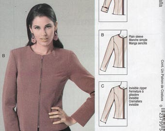 FREE US SHIP McCalls 6441 Palmer & Pletsch Perfect Fit Zipper Jacket Sewing Pattern Size 8/14 14/22 Plus Bust 30 32 34 36 38 44 New