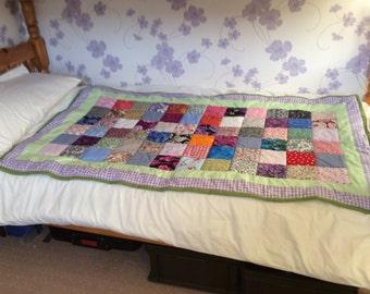 Handmade cotton blend single quilt