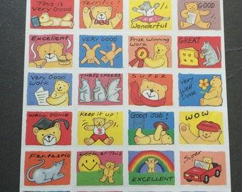 Stickermagic rare teddy bear reward stickers
