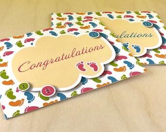 Baby Feet Congratulations Card