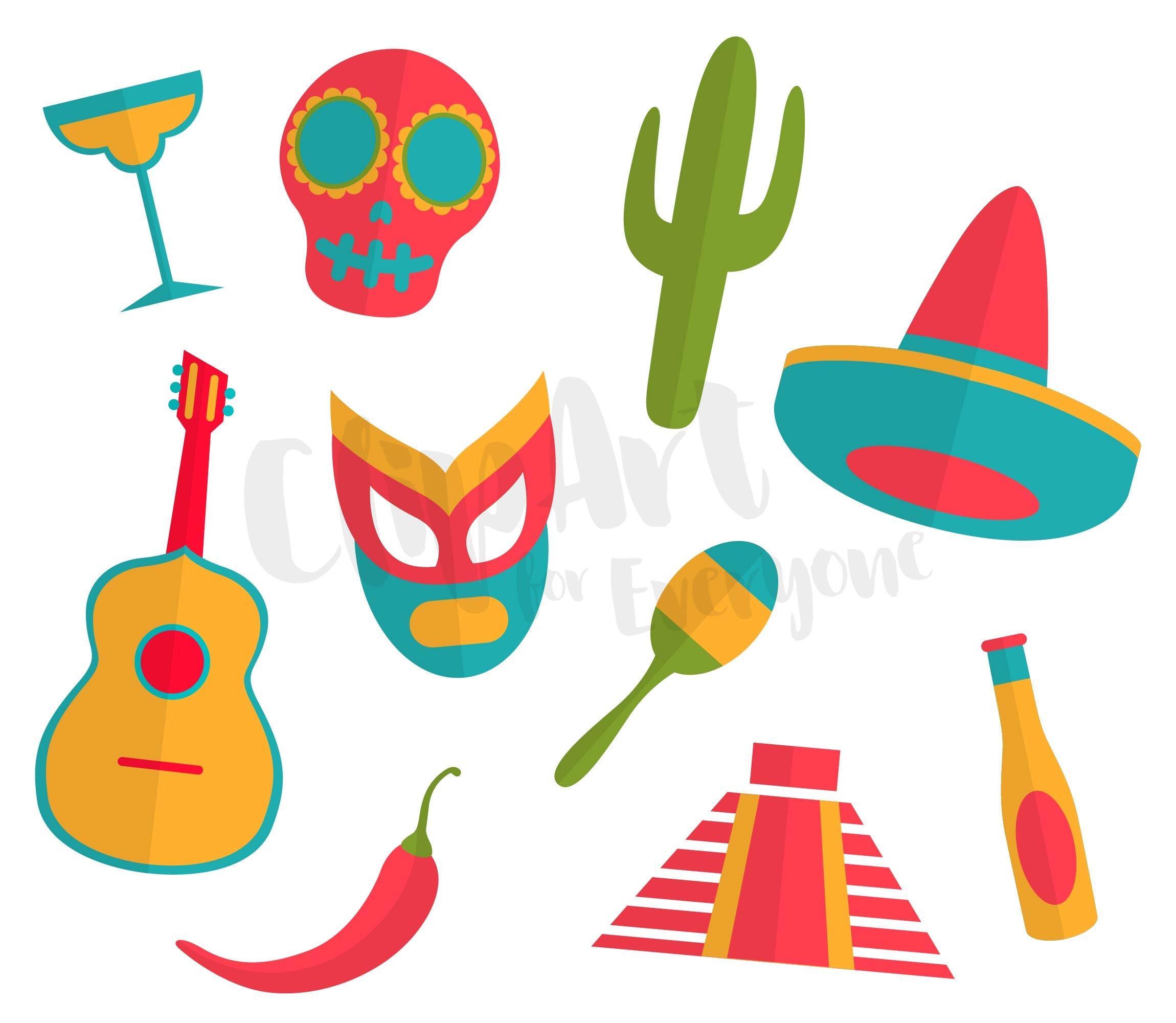 cinco de mayo clip art vector art mexican clipart for rh etsystudio com digital clipart for scrapbooking clipart scrapbooking gratuit